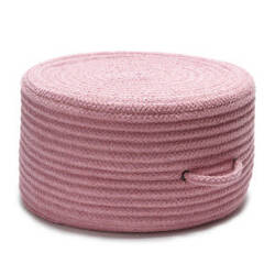 Colonial Mills Solid Chenille Pouf U900 Pink