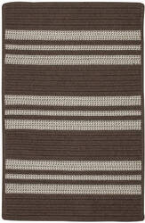 Colonial Mills Sunbrella Southport Stripe Uh09 Mink Area Rug