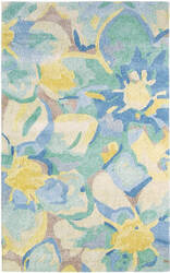 Company C Blue Poppies 10200 Blue Area Rug