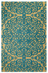 Company C Centerpiece 10758 Blue Area Rug