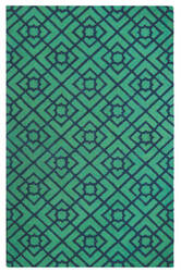 Company C Diamond Lattice 10762 Green Area Rug
