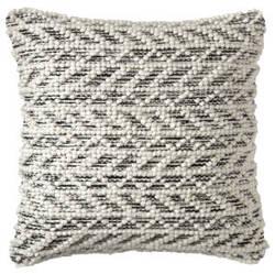 Company C Herringbone Berber Pillow 10781 Black