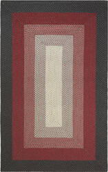 Company C French Braid 10820 Red Area Rug