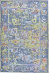 Company C Colorfields Pied-A-Terre 10838 Blue Area Rug