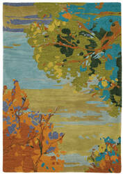 Company C Landscape 18862 Teal Area Rug