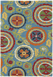 Company C Fair Winds 19198 Blue Area Rug