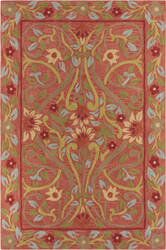 Company C Colorfields Jaipur Garden 19300 Red Area Rug