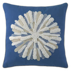 Company C Asters Pillow 18934k Blue