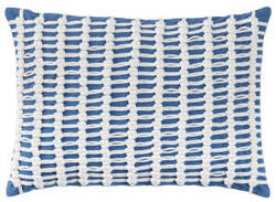 Company C Macrame Pillow 10262k Blue