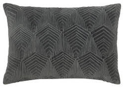 Company C Sloan Velvet Pillow 10734 Gray