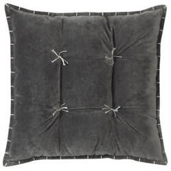 Company C Talia Velvet Pillow 10736 Gray