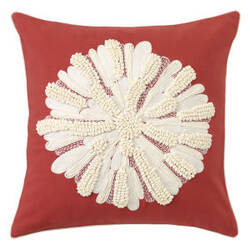 Company C Asters Pillow 18934k Newport Red