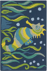 Company C Seahorse 10189 Blue Area Rug