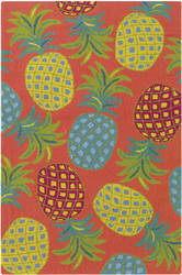 Company C Pineapples 10185 Coral Area Rug