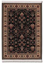 Couristan Kashimar Floral Herati Black-Teal 0600-3220 Custom Length Runner