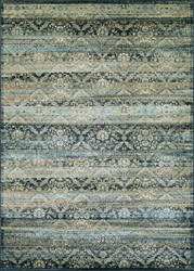 Couristan Zahara All Over Diamond Black - Light Blue - Oatmeal Area Rug