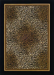 Couristan Everest Leopard Ivory - Black Area Rug