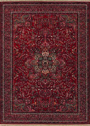 Couristan Kashimar All Over Center Medallion Antique Red Area Rug