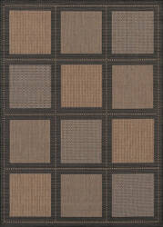 Couristan Recife Summit Cocoa - Black Area Rug