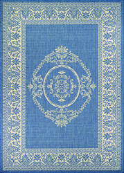 Couristan Recife Antique Medallion Champ - Blue Area Rug