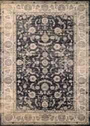 Couristan Zahara Floral Emblem Black - Oatmeal Area Rug
