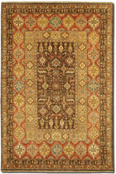 Couristan Lahore Marasali Brown - Rust Area Rug