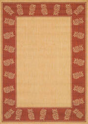 Couristan Recife Tropics Natural - Terracotta Area Rug