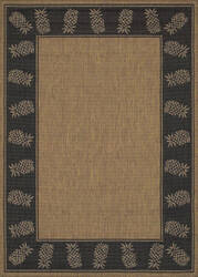 Couristan Recife Tropics Cocoa - Black Area Rug