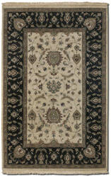 Couristan Jangali All Over Isfahan Antique Ivory - Black Area Rug