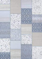 Couristan Marina Garden Patchwork Oyster - Pearl Area Rug