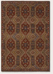 Couristan Jangali Antique Meshad Mocha - Rust Area Rug