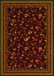 Couristan Royal Luxury Winslow Bordeaux Area Rug