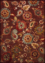 Couristan Cire Marlow Quartz - Ruby Area Rug