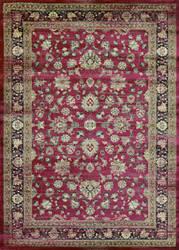 Couristan Zahara Farahan Amulet Red - Black - Oatmeal Area Rug