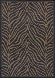 Couristan Recife Zebra Black - Cocoa Area Rug