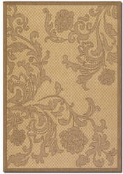 Couristan Recife Rose Lattice Natural - Cocoa Area Rug