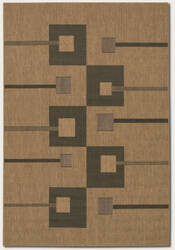 Couristan Recife Pathway Natural - Black Area Rug