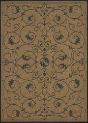 Couristan Recife Veranda Cocoa - Black Area Rug