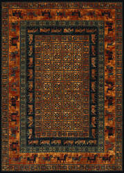 Couristan Old World Classics Pazyrk Burnished Rust Area Rug