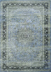 Couristan Zahara All Over Sarouk Slate - Blue - Creme Area Rug
