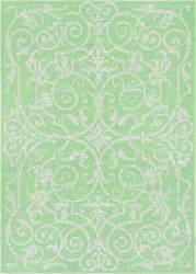 Couristan Monaco Summer Quay Ivory - Light Green Area Rug