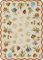 Couristan Outdoor Escape Coral Dive Sand Area Rug