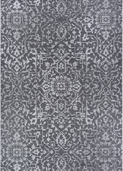 Couristan Monte Carlo Palmette Black - Grey - Ivory Area Rug