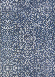 Couristan Monte Carlo Palmette Navy - Ivory Area Rug
