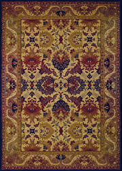 Couristan Anatolia Royal Plume Navy - Port Wine Area Rug