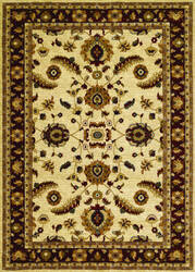 Couristan Anatolia Floral Heriz Cream - Red Area Rug