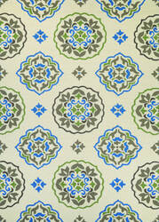 Couristan Covington San Clemente Cream - Blue Area Rug