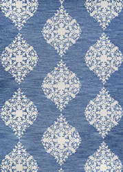 Couristan Crawford Ornament Blue Jay - Ivory Area Rug