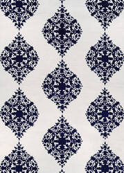Couristan Crawford Ornament Ivory - Blue Area Rug