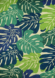 Couristan Covington Monstera Cream - Multi Area Rug